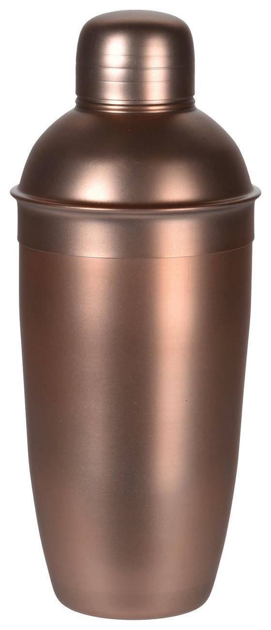 Cocktail-shaker mit Deckel - Bronzefarben, MODERN, Metall (9/22cm)