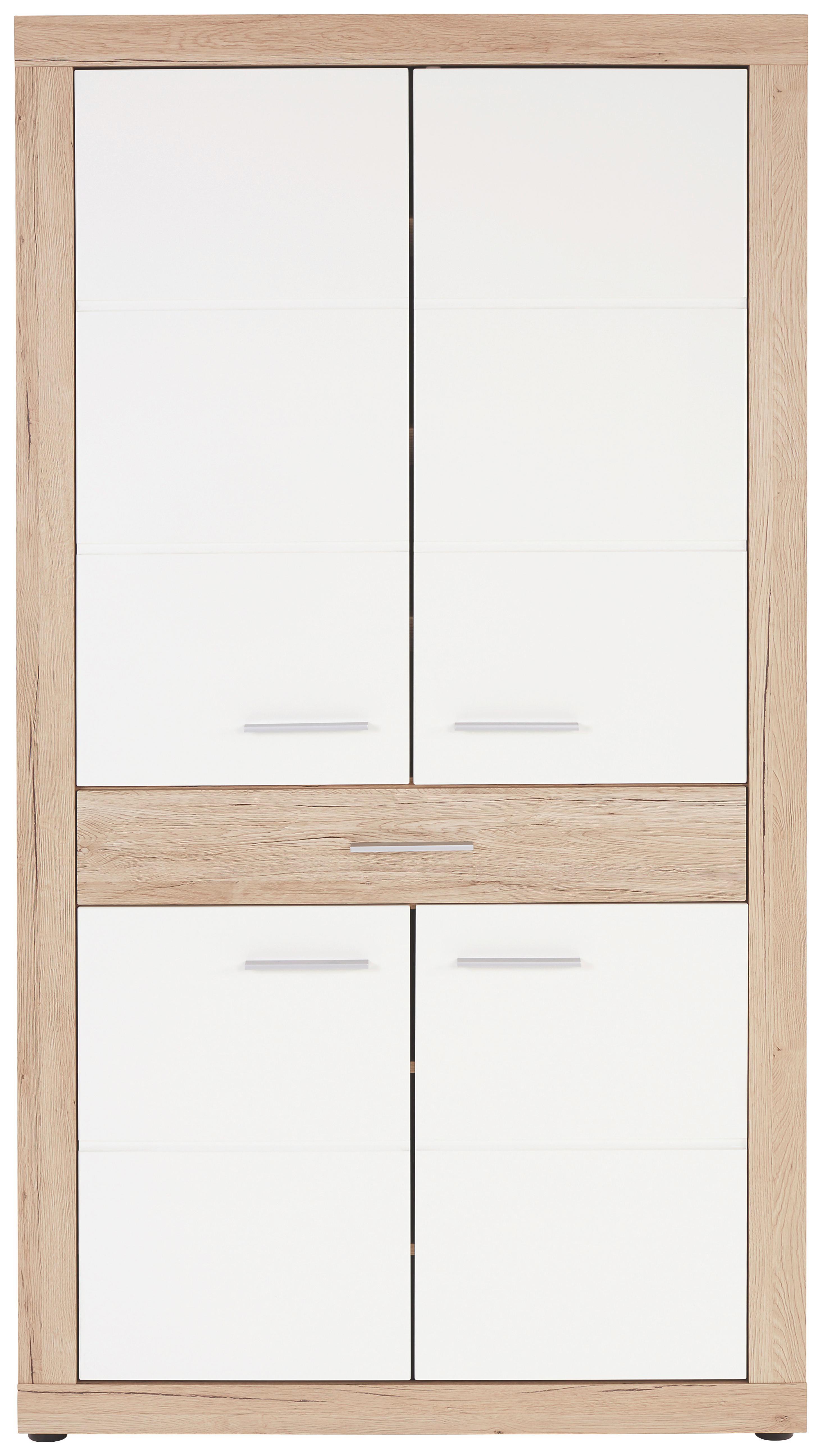 Előszoba Szekrény Malta - tölgy színű/fehér, modern, faanyagok (95/196,8/36cm)