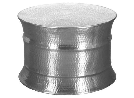 Couchtisch Karam D: ca. 62 cm - Silberfarben, LIFESTYLE, Metall (62/62/41cm) - Livetastic