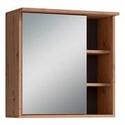 Spiegelschrank mit Led Wanda B: 30cm Eichefarben - Eichefarben, Natur, Glas/Holzwerkstoff (60/61/28cm) - MID.YOU