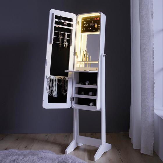 Skrinka Na Šperky Livia - bílá, Moderní, dřevo/textil (34/143/34cm) - Mömax modern living