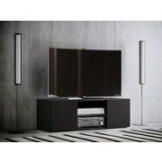 TV-Element Lowina B: 115 cm Schwarz - Schwarz, KONVENTIONELL, Glas/Holzwerkstoff (115/40/36cm) - MID.YOU