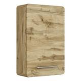Hängeschrank mit Türdämpfer Faro B: 40cm, Eiche Dekor - Eichefarben, Basics, Glas/Holzwerkstoff (40/64/20cm) - Livetastic