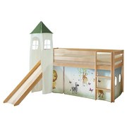 Spielbett Kasper 90x200 cm Safari - Multicolor/Kieferfarben, Natur, Holz (90/200cm) - MID.YOU