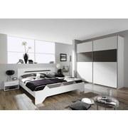 Schlafzimmer Ruby Alpinweiss   Dunkelgrau/Weiß, MODERN, Holzwerkstoff