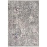 Hochflorteppich Bergamo, 133/190 - Weiß/Grau, MODERN, Textil (133/190cm)