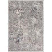 Hochflorteppich Bergamo, 160/230 - Weiß/Grau, MODERN, Textil (160/230cm)