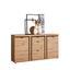 Sideboard Nyon - Eichefarben/Schwarz, MODERN, Holzwerkstoff (167,3/90,9/40,5cm)