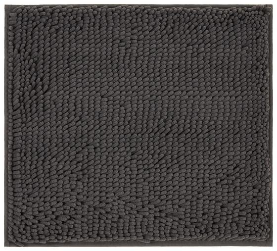 WC-Vorleger Liliane - Anthrazit, KONVENTIONELL, Textil (45/50cm) - Ombra