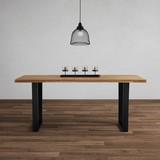 Stůl Z Masivu Kayla 180x90 Cm - barvy dubu/černá, Moderní, kov/dřevo (180/76/90cm) - Modern Living