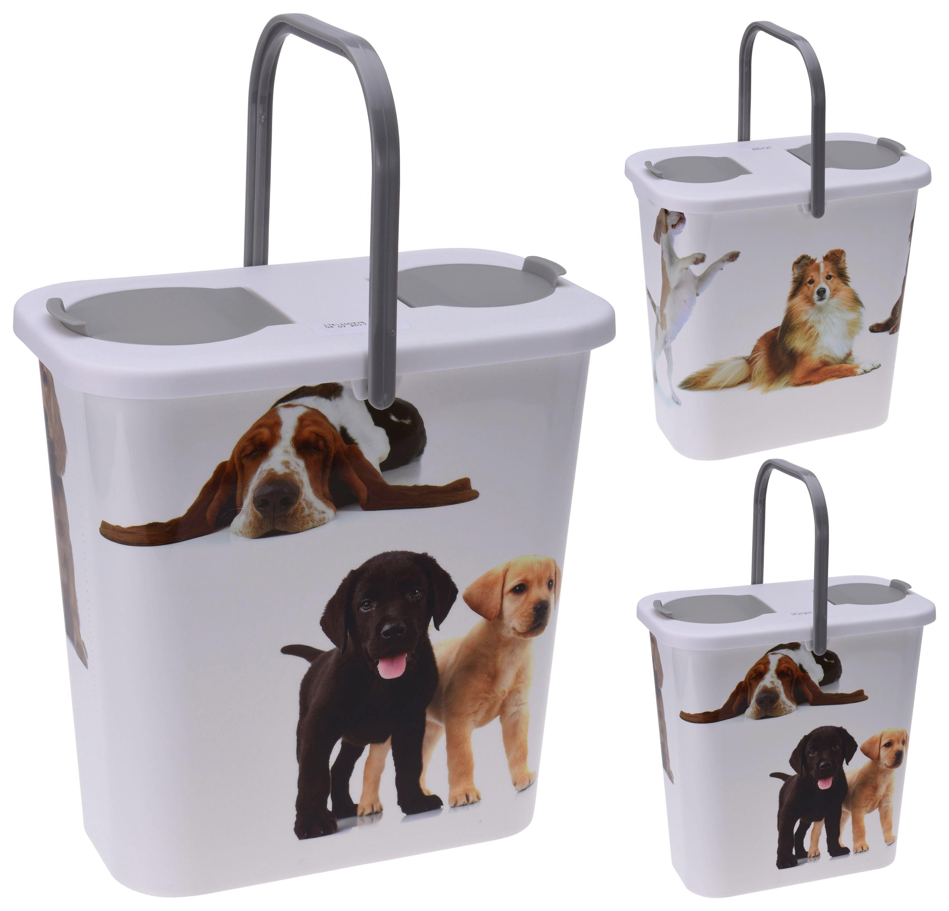 Futterbehälter für Tierfutter - Weiß/Grau, Kunststoff (31/19/31cm)