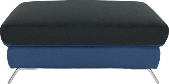 Hocker Upgrade - Chromfarben/Blau, MODERN, Textil (98/46/67cm)