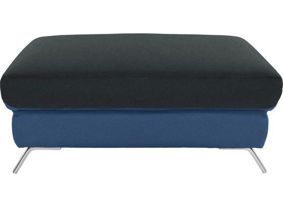 Hocker Upgrade - Chromfarben/Blau, MODERN, Textil (98/46/67cm)