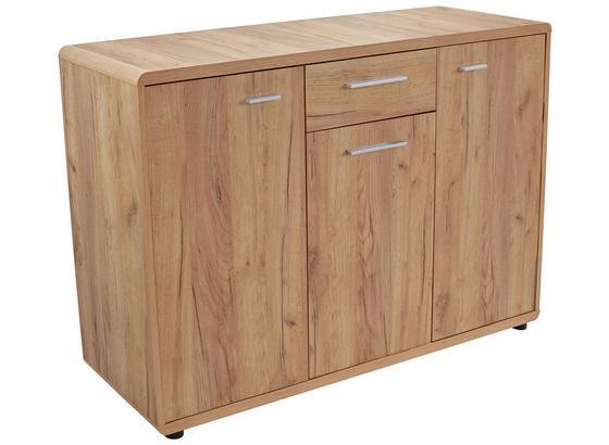 Komoda Fontana - farby dubu, Moderný, kompozitné drevo (132/87/40cm)