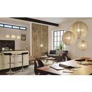 Hängeleuchte Cossano H: 130 cm 3-Flammig, Echtholz/Metall - Weiß, MODERN, Holz/Metall (79/19/130cm)