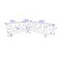 Sedacia Súprava Crissie - svetlosivá, Moderný, drevo/textil (233/230cm) - Mömax modern living
