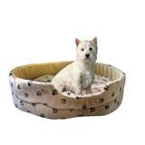 Hundekissen Silvio L: 44 cm Beige - Beige, KONVENTIONELL, Textil (44/38/16cm)