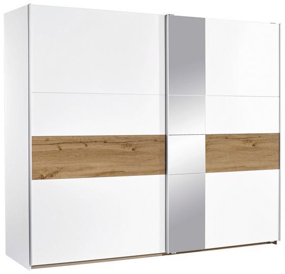 Schwebetürenschrank Korbach, 261cm - Eichefarben/Weiß, MODERN, Holzwerkstoff (261/210/59cm)