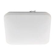 Badezimmer-Deckenleuchte Frania 33x33 cm - Weiß, MODERN, Kunststoff/Metall (33/33/7cm)