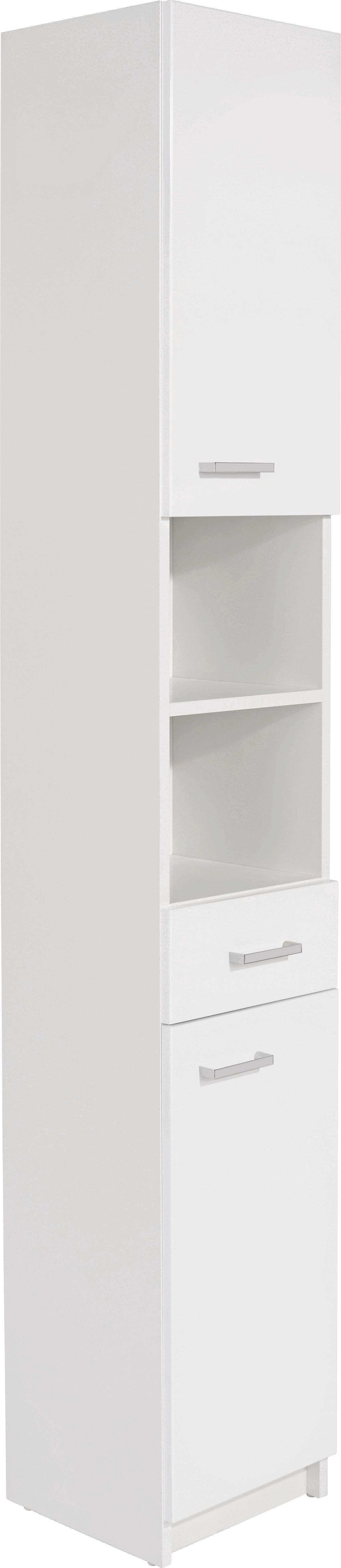 Vysoká Skříň Fiola - bílá, Konvenční, dřevěný materiál (30/192/33,5cm)