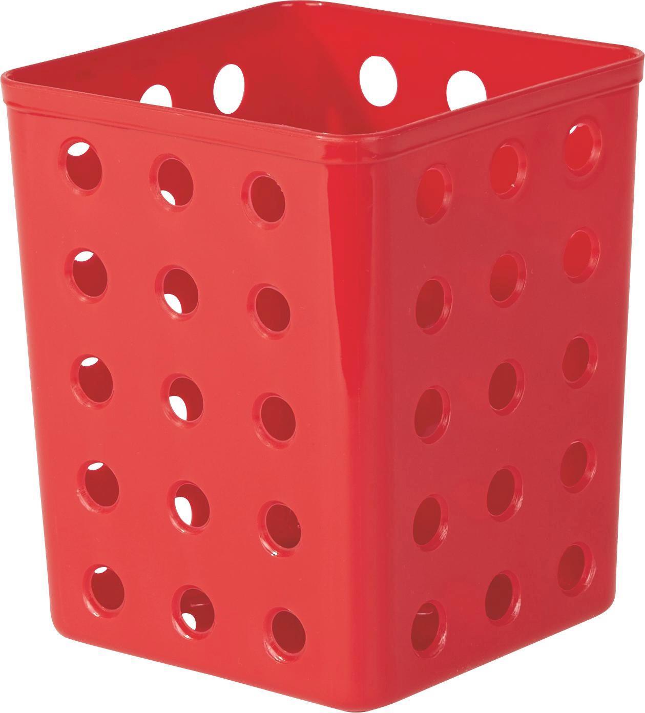 Evőeszköztartó Műanyag - piros/kék, konvencionális, műanyag (12/14.3/12cm)