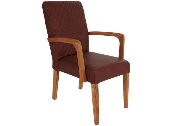 esszimmer stuhl im lederlookmit armlehnen aus holz. Black Bedroom Furniture Sets. Home Design Ideas