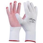 Strickbundhandschuhe Gr. 10 - Rot/Weiß, KONVENTIONELL, Textil - GEBOL