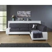 Wohnlandschaft in L-Form Miami 260x210 cm - Alufarben/Weiß, Basics, Holz/Kunststoff (260 210 cm) - Ombra
