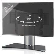 "TV-Rack Bis 37"" Schwenkbar Windoxa Mini Max. 30 Kg - Silberfarben/Schwarz, KONVENTIONELL, Glas/Metall (70/52/30cm) - Livetastic"