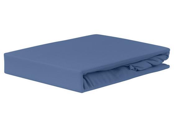 Spannleintuch Jardena 100x200 cm - Blau, KONVENTIONELL, Textil (90-100/200cm) - Ombra