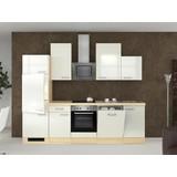 Küchenblock Abaco 280cm Perlmutt - Edelstahlfarben/Perlmutt, MODERN, Holzwerkstoff (280/60cm)