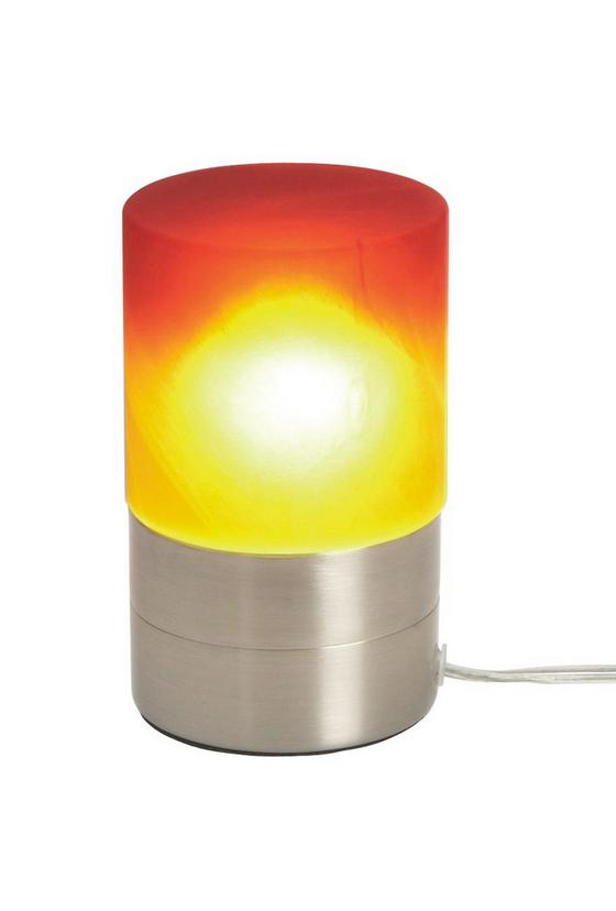 Tischleuchte Marion - Rot/Orange, KONVENTIONELL, Glas/Metall (9/14,8cm) - Ombra