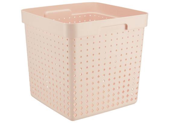 Koš Regálový Seoul - Xl - růžová, Konvenční, umělá hmota (29,6/29,6/29,6cm)