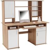 Schreibtisch Thema 2 - Weiß/Sonoma Eiche, MODERN, Holzwerkstoff/Kunststoff (160/153,4cm)