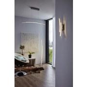 Led Hängeleuchte Pertini H: 150 cm mit 2 Leuchtröhren - Chromfarben/Transparent, MODERN, Kunststoff/Metall (96/8/150cm)
