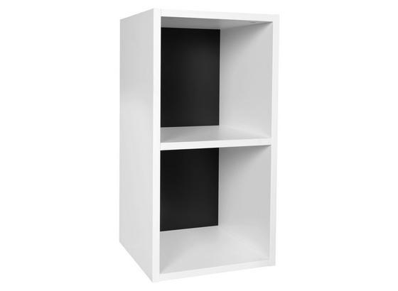 Standregal B: 30 cm Weiß/Schwarz - Schwarz/Weiß, KONVENTIONELL, Holzwerkstoff (30/60/30cm) - Livetastic