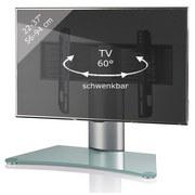 """TV-Rack Bis 37"""" Schwenkbar Windoxa Mini Max. 30 Kg - Klar/Silberfarben, KONVENTIONELL, Glas/Metall (70/52/30cm) - Livetastic"""