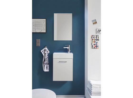 Koupelna Pro Hosty Guest Light - bílá, Moderní, kompozitní dřevo/sklo (40/53/22cm)