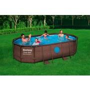 Stahlrahmenpool Swim Vista 427x250x100cm mit Pumpe 56714 - Braun, MODERN, Kunststoff/Metall (427/250/100cm) - Bestway