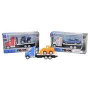 Spielzeugauto mit Fahrzeug - Multicolor, Basics, Kunststoff (12,5/5,5/3,8cm)
