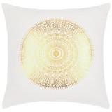 Zierkissen Dione 45x45 cm - Goldfarben/Weiß, MODERN, Textil (45/45cm) - Luca Bessoni