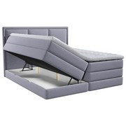 Boxspringbett mit Topper Swing 140x200 cm Grau - Grau, Design, Holzwerkstoff/Textil (140/200cm) - Xora