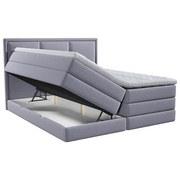 Boxspringbett mit Topper Swing 200x200 cm Grau - Grau, Design, Holzwerkstoff/Textil (200/200cm) - Xora