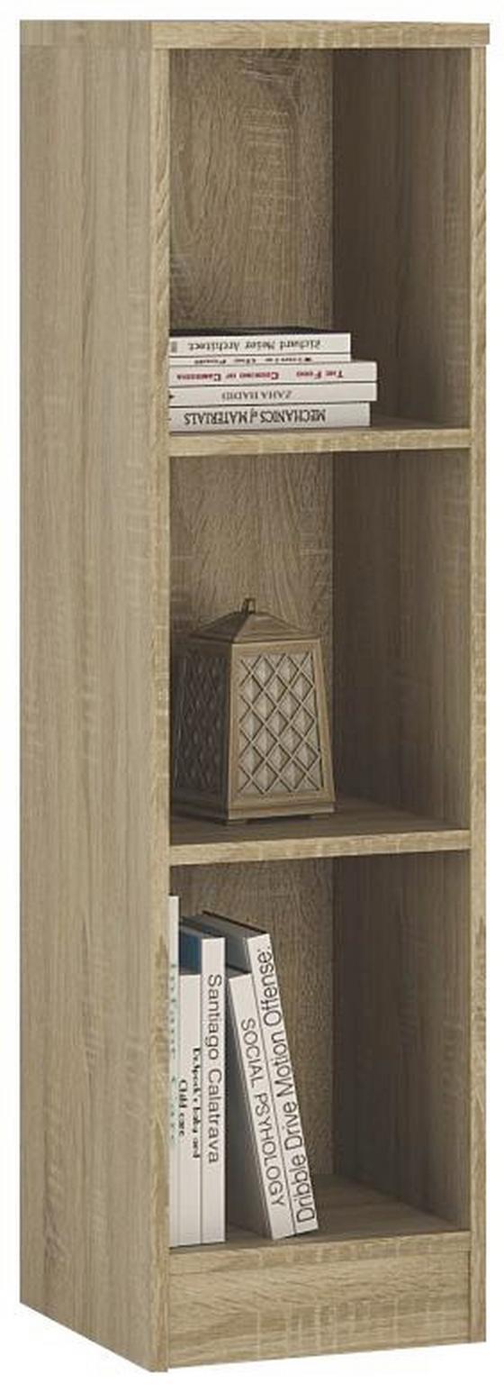 Regál 4-you Yur05 - Sonoma dub, Moderní, dřevo (30/111,5/35,2cm)