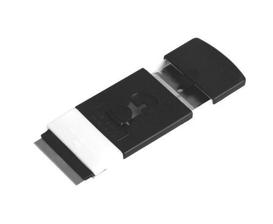 Főzőlap Tisztító Penge 2 Pengével - fekete/fehér, konvencionális, műanyag (4,5/10cm)