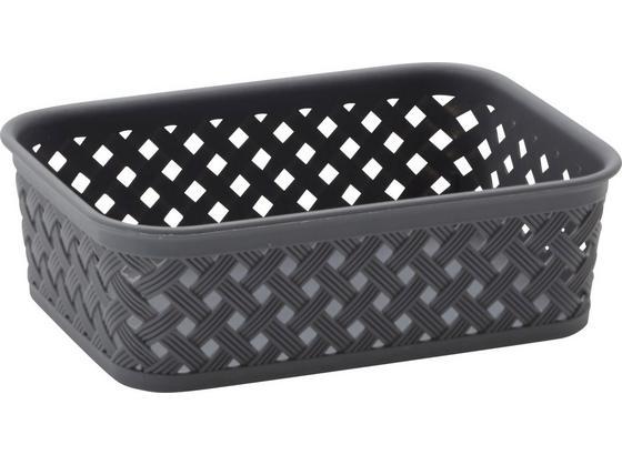 Košík Mona -top- - čierna/sivá, plast (20/15/6cm) - Mömax modern living