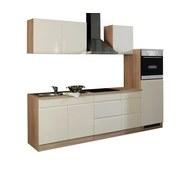 Küchenblock Cardiff B: 270 cm Creme/sonoma - Creme/Sonoma Eiche, Basics, Holzwerkstoff (270/200/60cm)