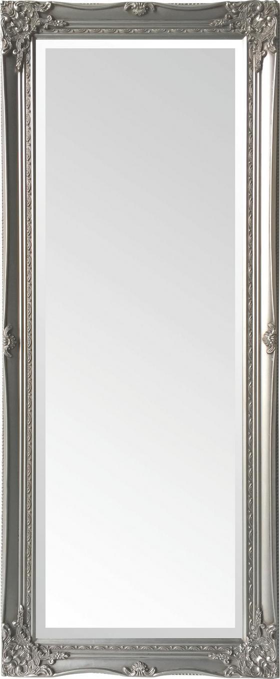 Nástenné Zrkadlo Antje - strieborná, Moderný, kompozitné drevo/sklo (52/122/5cm)