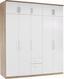 Skříň Šatní Wien - bílá/barvy dubu, Konvenční, kompozitní dřevo (226/212/54cm)