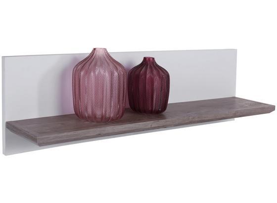 Wandboard Nagos B:110cm, Weiß/ Ribbeck Eiche Dekor - Eichefarben/Weiß, MODERN, Holzwerkstoff (110/30/22,4cm)